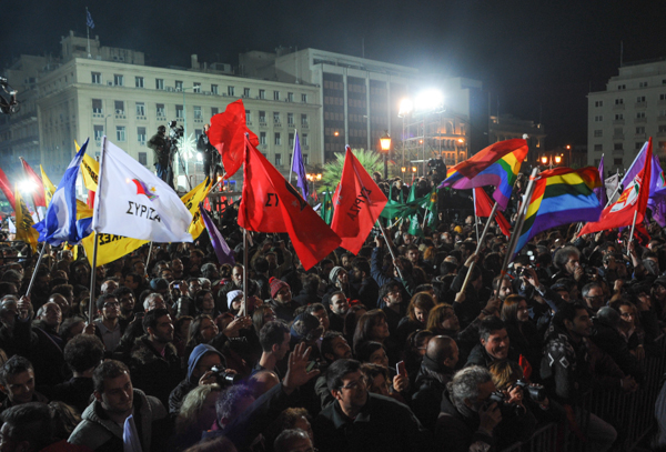 Syriza victory party in Athens
