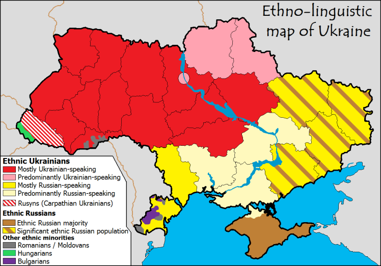 Division linguistique ukraine