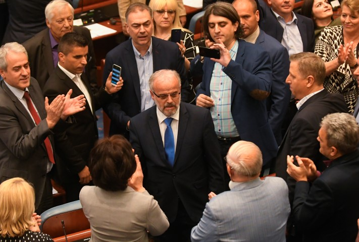 Social Democratic Union of Macedonia with Albanian parties have elected new President of the Parliament Talat Dzaferi