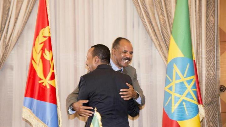 ethiopia-s-prime-minister-abiy-ahmed-and-eritrean-president-isaias-afwerk-embrace-at-the-declaration-signing-in-asmara