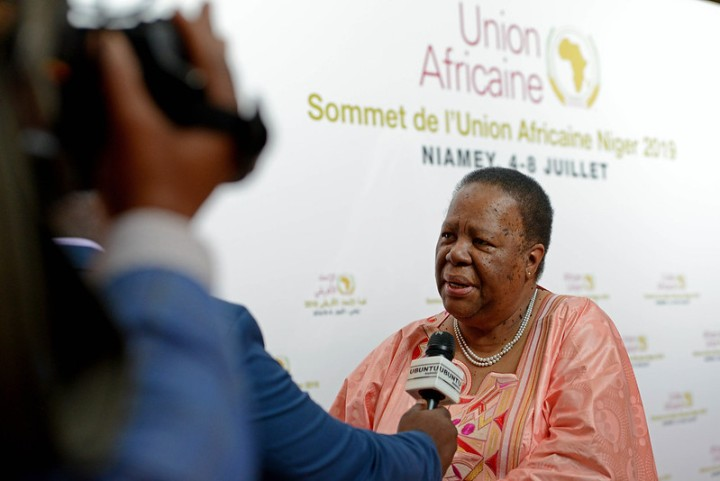 Minister Pandor being interviewed by Ubuntu.r4 July 2019rNiamey, Niger.