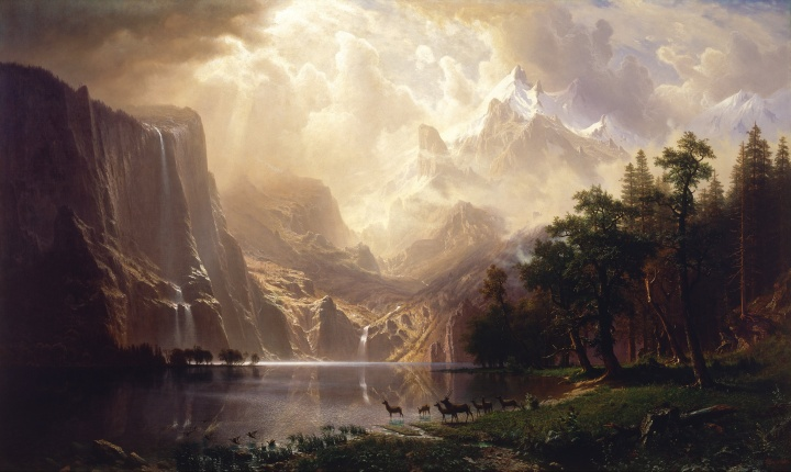 Among the Sierra Nevada Mountain, A. Bierstadt